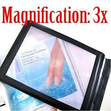 Black A4 3X Full Page Large Hands Free Magnifier Glass Lens for Reading Aid