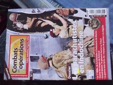 21$$ Revue Combats et Operations n°1 TOE Indo Algerie Opex Paras en Indo KOLWEZI