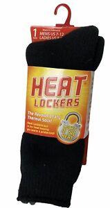 Heat Locker Thermal Knit Warmer Socks (Women's Size 8-13/Men's 7-12) Black