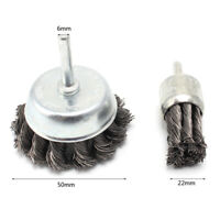 2Pcs 25/50mm Stainless Steel Wire Brush For Metal Cleaning Twist Knot Steel Tool