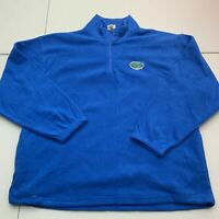 Red Oak Fleece Jacket Mens 2XL Blue 1/4 Zip Mock Neck Florida Gators Insulated