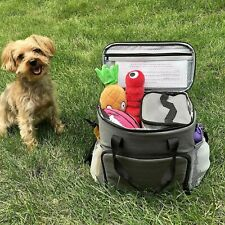 New ListingDogs or Cat Day Away Tote Bag - Includes Bag, 2 Lined Food Carriers Adjustable