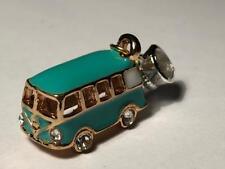 3D Oro Cristal Esmalte Bus monovolumen cuelgan Encanto Colgante Para Pulsera Original 925