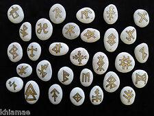 Set of 30 Magickal Bind Stone Runes amulet talisman wicca pagan altar spell gift