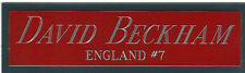 DAVID BECKHAM ENGLAND NAMEPLATE FOR AUTOGRAPHED Signed SOCCER BALL JERSEY PHOTO