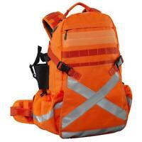 Caribee Heavy Duty Miners Mineral King Backpack Bag Hi Vis Orange Travel Daypack
