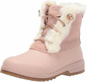 Sperry Women's Shoes Maritime rebel Faux Fur Closed Toe Ankle, Blush, Size 7.5 g