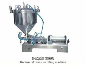 paste  Filling Machine with  pressure hopper with bigger valve