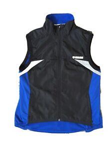 Mens Medium Pearl Izumi Black & Blue Cycling  Vest, Fleece-lined, Style#4522
