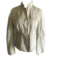 Marc Jacobs Women's Jacket Beige Button Down Long Sleeve Size Small
