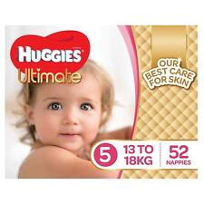 Huggies Ultimate Nappies,Girls, Size 5 Walker (13-18kg),52 Count Baby Disposable