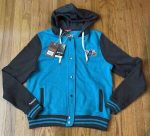 Charlotte Hornets Mitchell & Ness Womens Varsity Fleece Hoodie Jacket NWT Medium
