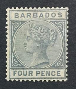 MOMEN: BARBADOS SG #97 1882 MINT OG H LOT #192430-1157