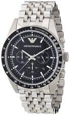 Emporio Armani AR5988 Chronograph silberne Herrenuhr Edelstahlgehäuse & Armband