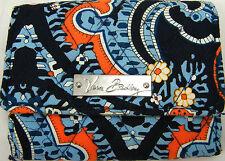 Women's Wallet Vera Bradley Tri Fold Coin Multi-Color Blue w/ Flowers