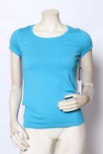 Camisa de mujer de color principal azul de seda