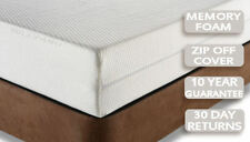 "10"" MEMORY FOAM ORTHOPAEDIC MATTRESS DOUBLE BED SIZE 4FT6 + COVER +FREE DELIVERY"