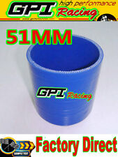 """GPI 2.0"""" Silicone Straight Hose Coupler 2inch 51mm Silicon Pipe Joiner BLU"""