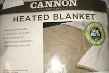 Cannon King Heated Blanket with Dual Controller Sherpa Bedding Color: Taupe