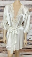 Victoria's Secret  Ivory Cream Bridal Robe Lingerie Sequined Satin ONE SIZE