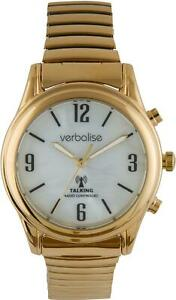 Verbalise Ladies Gold Plated Talking Watch with Expanding Strap VLRC-208EX