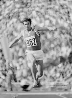 OLD SPORTS PHOTO OLYMPICS Viktor Saneyev Of The Soviet Union Jumping To A Gold