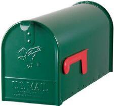 Solar Grp Elite Green Galvanized Standard Post Mount T1 Rural Mailbox E1100G00
