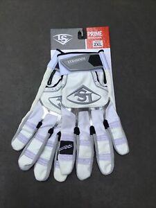 Louisville Slugger Prime Adult Batting Gloves - 2XL White NWT