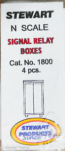 Stewart N Scale #1800 Signal Relay Boxes (White Metal) 1:160th Scale