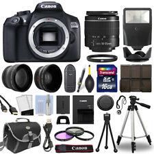 Canon Eos T6/ 1300D Slr Camera Wi-Fi+ 18-55mm 3 Lens 16Gb Multi Accessory Bundle