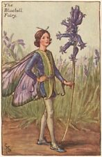 Bluebell Fairy by Cicely Mary Barker. Spring Flower Fairies c1935 old print