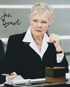 Judi Dench Hand Signed 8x10 Photo James Bond M 007 Skyfall Best Exotic Marig 1F