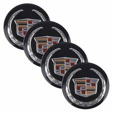 4x 65MM CADILLAC BLACK WHEEL CENTER CAP DECAL STICKER ESCALADE CTS STS ATS XTS