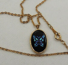 Avon Butterfly Wings Pendant and Avon Chain