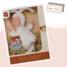 ANNE GEDDES ✳ BABY BUNNY - WHITE ✳ COLLECTABLE SOFT DOLL ✳ BRAND NEW ✳ GIFT