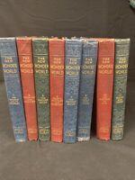 1949-50s The New Wonder World Set Of 8 Books Geo L. Shuman.