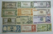 More details for bolivia 12 different old banknotes bolivianos 1945-1986 circulated condition