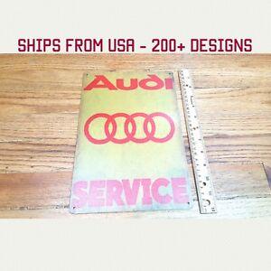 Audi Sign Audi Garage Sign Metal Audi Sign Audi A8 A6 A5 R8 Sign Audi Service