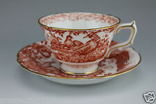 Royal Crown Derby Red Aves Cup and Saucer - A