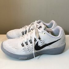 Men's Nike Lunartempo Neutral Ride White Black Running Shoes Size 7.5