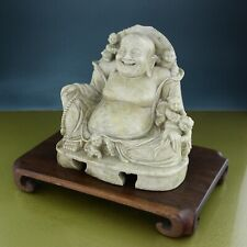 antique LUCKY BUDDHA soapstone jade CHINA laughing 1900 19th 20th century ☆☆☆