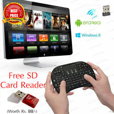2.4G Mini Wireless Rechargeable Keyboard Touchpad Mouse Combo Remote Android TV