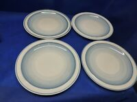 "Vintage Epoch Stoneware ""COOL SEA"" Set/4 Dinner Plates #5001 Retired"