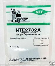 NTE NTE2732A IC INTEGRATED CIRCUIT 32K 4K X8 BIT UV EPROM ACCESS 200NS