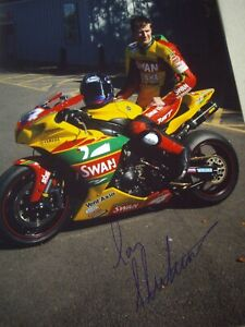 Ian Hutchinson signed Swan Yamaha SMR team signed photo