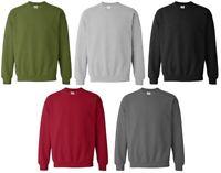 Plain Jumper Sweatshirt  Top Mens Work Wear Classic Casual Pullover Top S - XXL