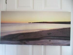 "Beautiful DORSET COAST canvas print with professional framing 30"" W x 14.5"" H"