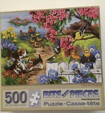 """Bits and Pieces """"Time For Lessons"""" 500 pc Puzzle Dogs Ducks Birds - Complete"""