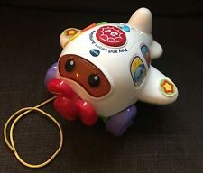 VTECH Play and Learn Pull Along Musical Aeroplane - VGC