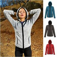 Womens Zip Hooded Fleece Top Jacket Hoodie Fitness Running Jogging Outdoor Sport